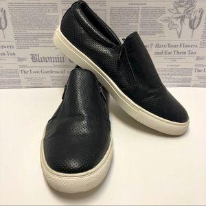 Report Black Slip On Zipper Sneakers Size 10